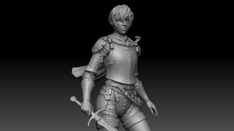 Casca from Berserk, 3D printable figure.