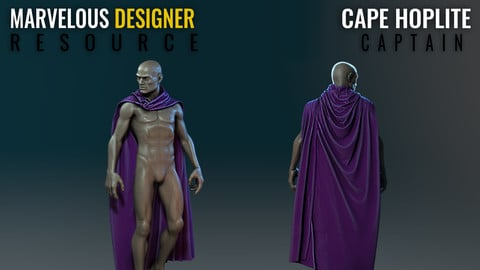 Cape - Hoplite Captain - Marvelous Designer Resource
