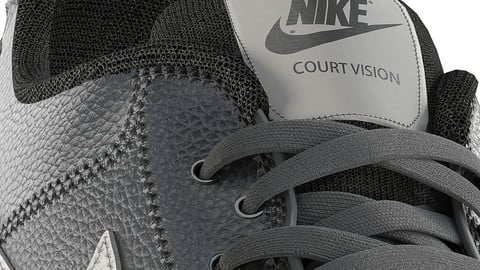 NIKE-COURT-VISION-LOW sneakers- 3d model