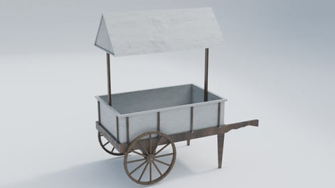 Wooden old cart (market)
