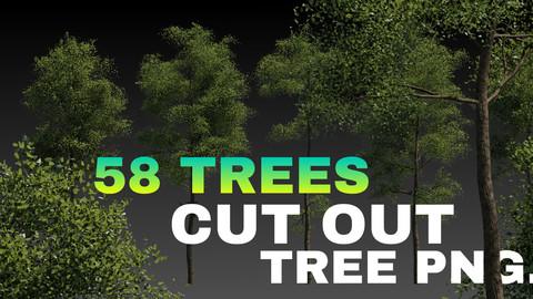 58 Trees Alpha png
