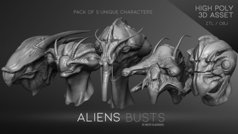 Aliens busts