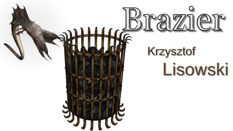 Brazier, fired with coke or coal | 3D object