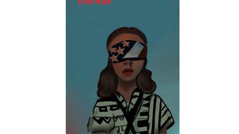 a fanart of Eleven (Stranger Things)