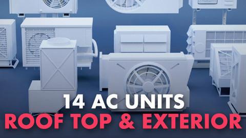 14 AC Units Roof top & Exterior