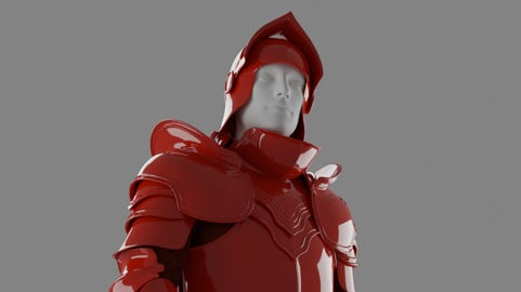 [FREE] Medieval Knight Armor 3D Model (.Blend + .FBX)