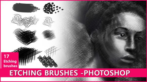 Etching Brushes for Photoshop
