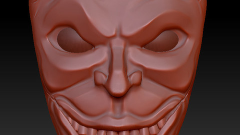 Joker in a Tiki style mask - 3D Print