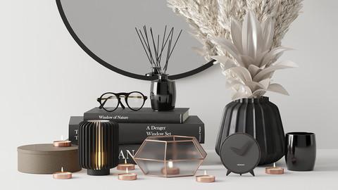 Black Decorative Set