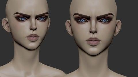 Stylized female head44