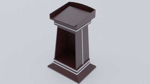 Dark wooden pulpit (Lectern)