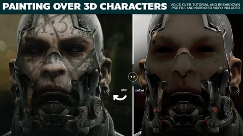 Painting Over 3D Characters