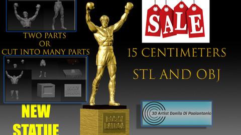 EDIT DEACTIVATE ROCKY BALBOA 3D STL STATUA NUOVO SILVESTER STALLONE STL E OBJ 3D V8.1