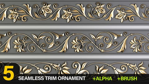 5 Decorative Trim Ornament Brush and Alpha