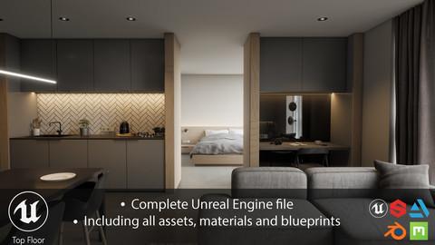 Project 'Top Floor' | Full Unreal Engine 4 Archviz Project | (Artstation Learning)