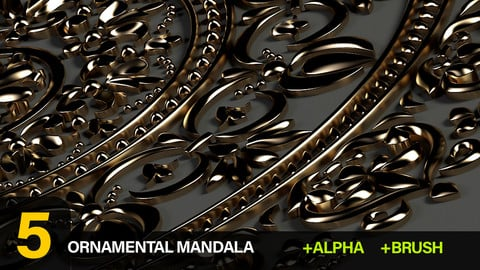 5 Ornamental Mandala Brush and Alpha