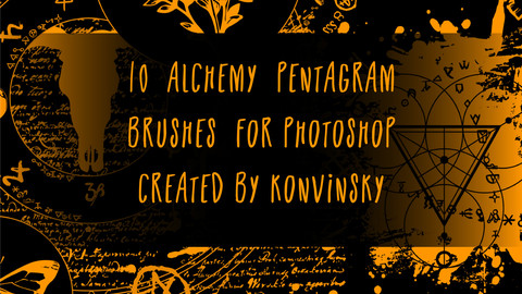 10 Alchemy Pentagram Brushes for Photoshop