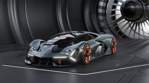 Lamborghini Terzo Millennio 3d model (.fbx - .obj - .blend