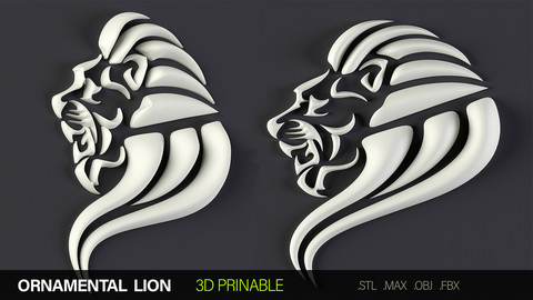 3D ornamental Lion