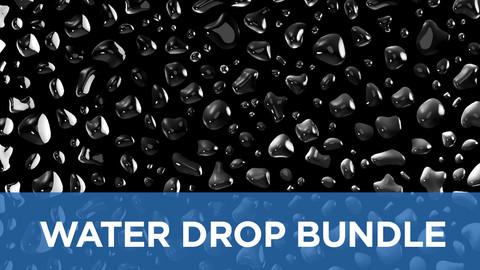 Liquid droplets bundle - Seamless patch of water drops 3D model