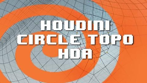 Circle Topo Bool Tool, a Houdini HDA