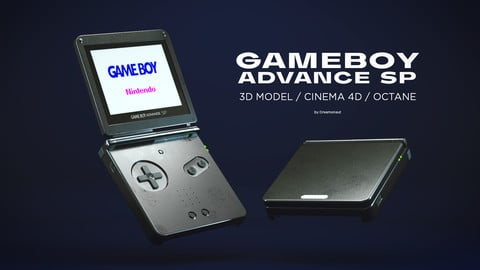 GAMEBOY ADVANCE SP 3D MODEL