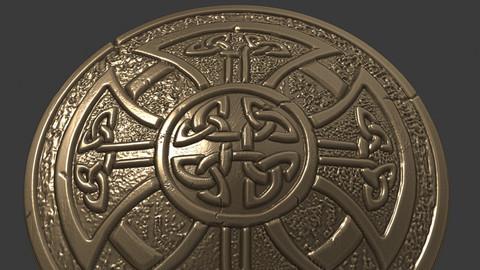 celtic shield 3d print model