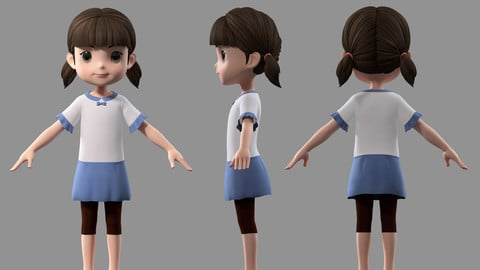 cartoon girl child