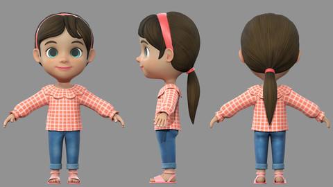 cartoon girl kids