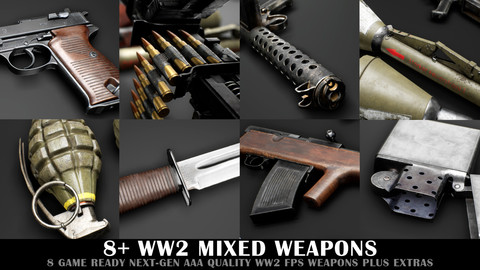 WW2 Mixed Weapon Pack