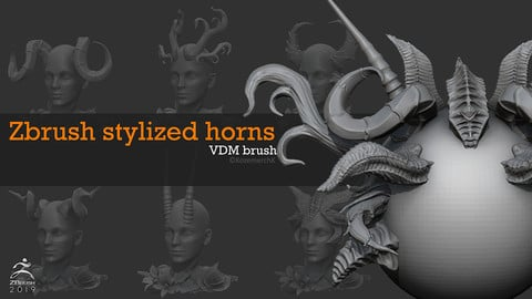 Free stylized horns pack