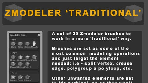Zmodeler 'Tradtional' Brushes