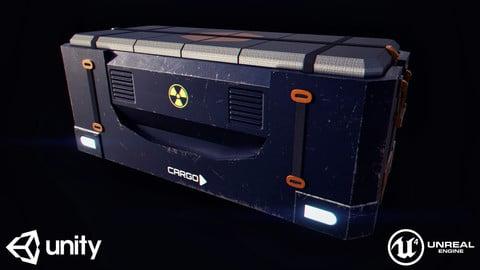 SciFi Cargo Box - Real Time/3D Asset/4K Textures/Files(MB, MAX, OBJ, FBX, Unity, Unreal, Marmoset)