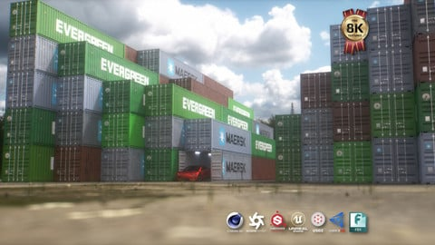40 ft Shipping Container 3D Model