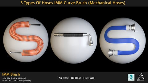 3 Types Of Hoses IMM Curve Brush (Mechanical Hoses)