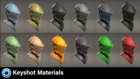 41 Keyshot Materials - Procedural materials to show off form