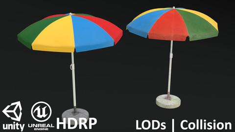 Garden Umbrella V1 - Clean and Dirty
