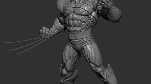 Wolverine 3D Printing Figurine