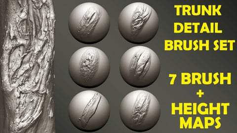 Zbrush - Trunk Detail Brushes set