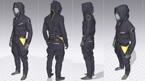 Making a Sci Fi Overall in Marvelous Designer 6.5