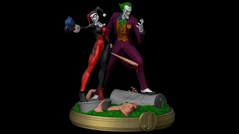 Bat Slayers Joker & Harley STL Files For 3D Printer