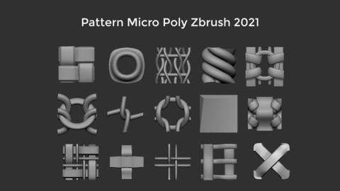 Pattern Micro Poly Zbrush 2021