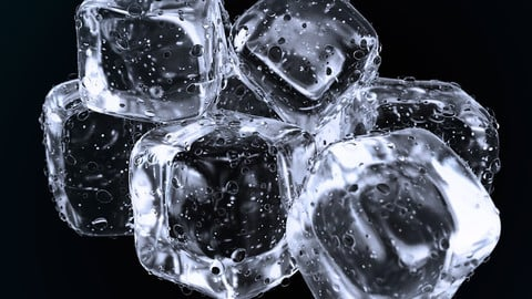 Realistic Ice cubes 3D model