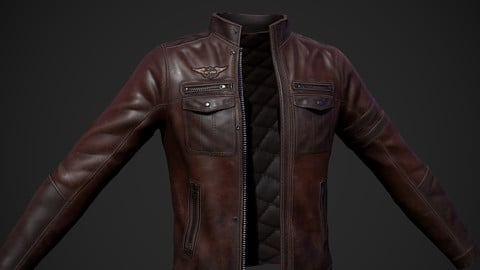 Jacket Leather - Game Asset / Low + High