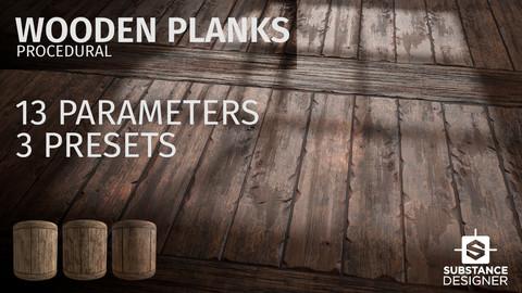 wooden planks procedural
