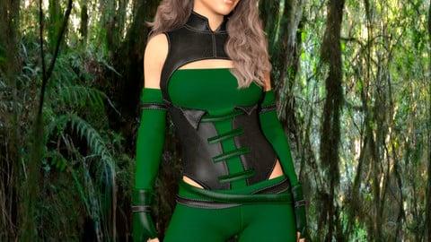 Archer Girl - Marvelous Designer for Daz3D