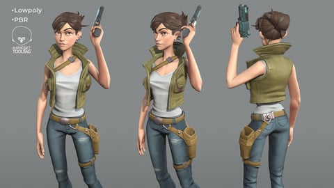 Woman soldier game ready character