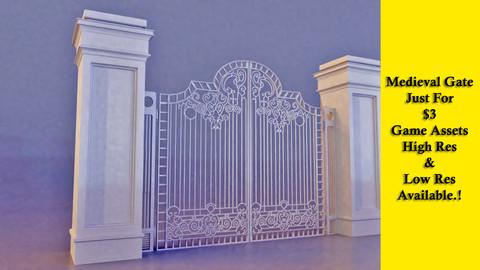 Medieval gate - game assets