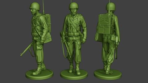 American engineer soldier ww2 walk A9