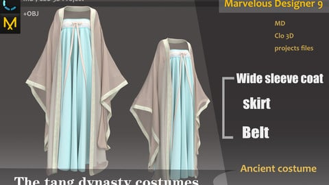Asian Tang Dynasty Costumes